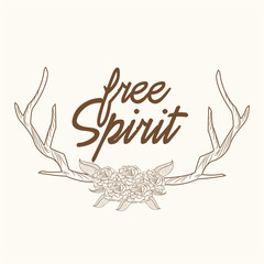 free spirit horns ornament image vector illustration eps 10