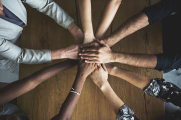 People Hands Together Partnership Teamwork Fotoväggar
