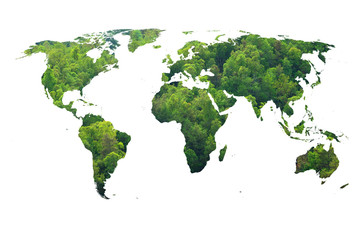 ecology world map, green forest design