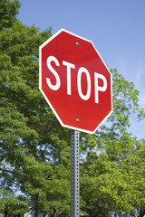 Stop Sign in a Vertical Format