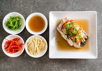 snapper fish steamed with soy sauce