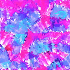 Seamless watercolor vintage pattern, background. abstract natural vision paints, ink, watercolor. Drawn pink, purple, blue. For decoration and design. Splash, bright streaks of paint.