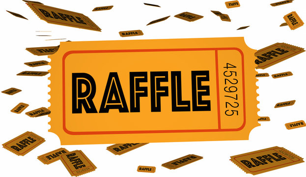 Raffle Tickets Contest Enter Now Win Big 3d Illustration