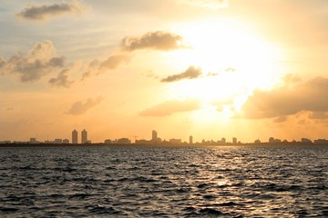 Sunshine Over Miami Beach Skyline