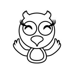 owl animal toy outline vector illustration eps 10