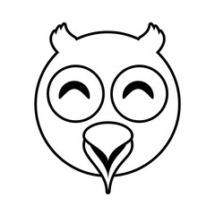 owl face animal outline vector illustration eps 10