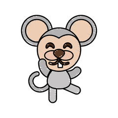 drawing mouse animal character vector illustration eps 10