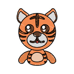 draw tiger animal comic vector illustration eps 10