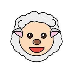 cute sheep drawing animal vector illustration eps 10