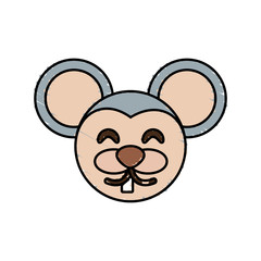 cute mouse drawing animal vector illustration eps 10
