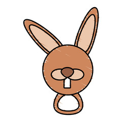 drawing rabbit face animal vector illustration eps 10