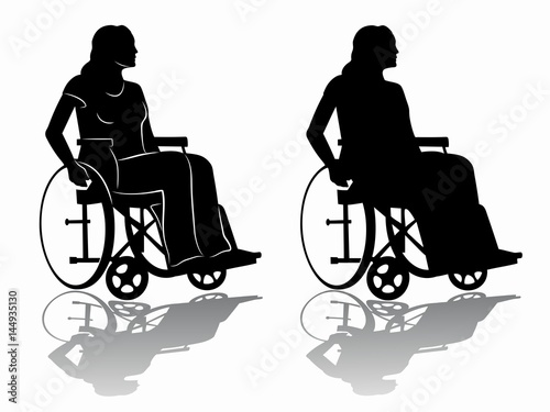 Silhouette of a disabled person in wheelchair vector for Chaise 3d dessin