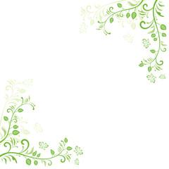 植物のイラスト背景(壁紙)