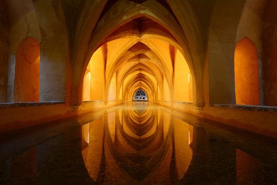 Royal bathroom in Alcazar - Seville, Spain