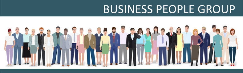 Business group, vector illustration