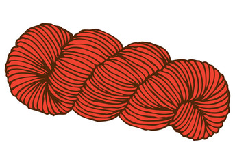 Red Hank of Yarn
