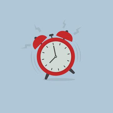 Alarm Clock Wake Up Time. Alarm clock ringing illustration