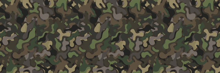 seamless military camouflage vector background pattern in natural colors
