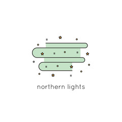 Northern Lights line icon