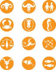 Zodiac twelve signs. Vector