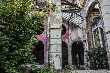 Abandoned Castle Spitzer in Beocin, Serbia