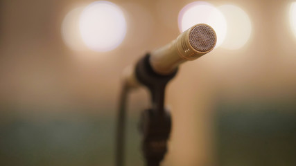 Microphone at theatre or opera scene - concert hall