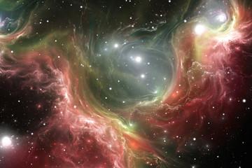 Space reflection nebula, illustration