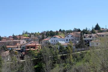 Panoramic view of Siguenza in Guadalajara, Spain