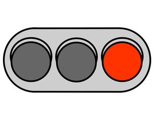 信号機(赤)