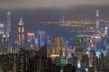 Hong kong skyline at night (Hong Kong)