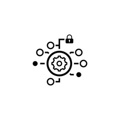 Security Settings Icon. Flat Design.