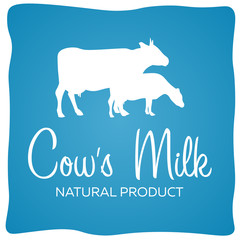 Cows milk. Natural product. Milk banner. Vector illustration.