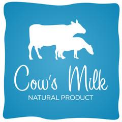Cows milk. Natural product. Milk banner. Vector illustration.