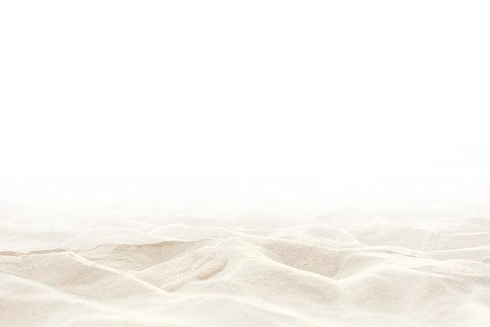 Close up Sand isolated, Soft sand background. Summer background.