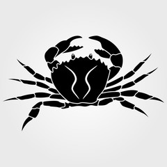 King Crab icon isolated on white background.