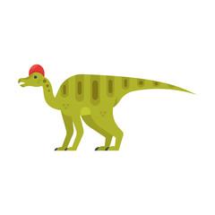 Vector flat style illustration of prehistoric animal - Corythosaurus.
