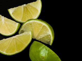 Fresh Ripe Juicy Lime Segments