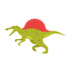 Vector flat style illustration of prehistoric animal - spinosaurus.