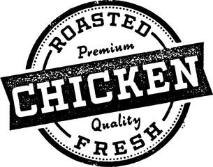 Roasted Chicken Menu Design Stamp