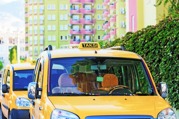 City taxi in Turkey