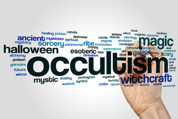 Occultism word cloud
