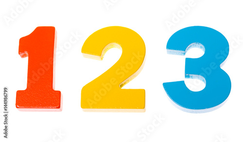 Wooden Colorful Numbers 1 2 3 Stock Photo And Royalty Free Images