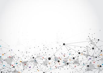 Fotobehang Macrofotografie Abstract technology futuristic network