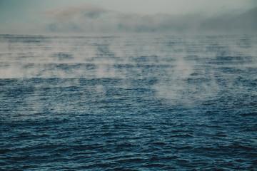 Photo sur Aluminium Mer / Ocean Evaporation of Barents Sea, Arctic Ocean.