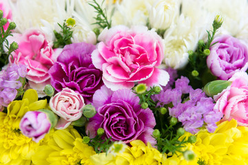 Colorful fresh flowers background