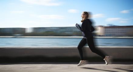 Sport woman run