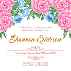 Reto bridal shower invitation