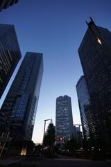 Buildings in Shinjuku, Tokyo, at  dusk