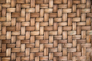 Closed up of brown color wooden weave texture background