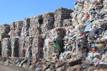 Mülldeponie mit Plastik, Kunststoff, Verpackungen